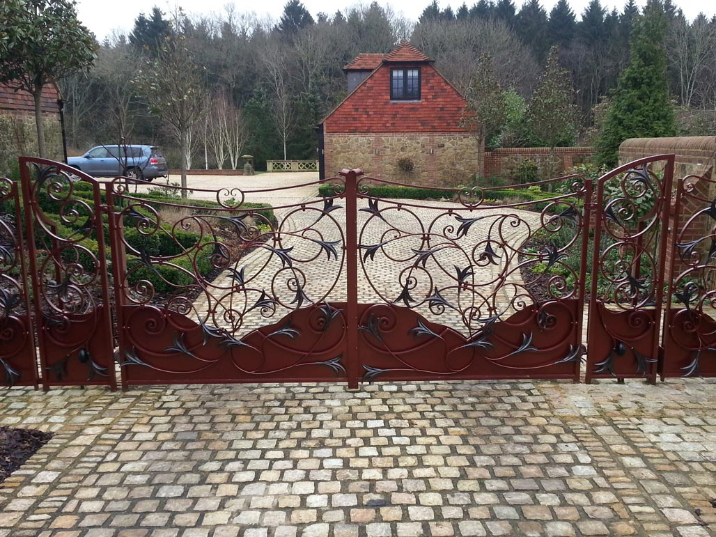 Bronze Lillies Gate