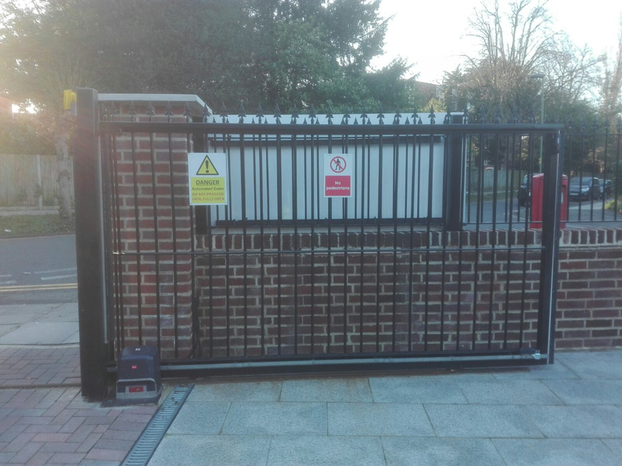 Hendon Estate Steel Slider Gates