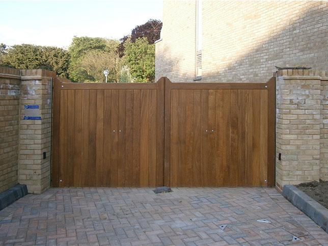 Windsor Iroko Quarley Swing Gates